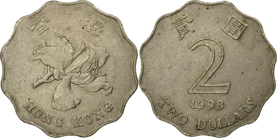 World Coins - Coin, Hong Kong, Elizabeth II, 2 Dollars, 1998, , Copper-nickel, KM:64