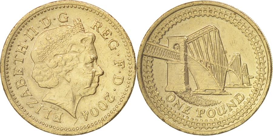 World Coins - Great Britain, Elizabeth II, Pound, 2004, British Royal Mint, , KM 1048