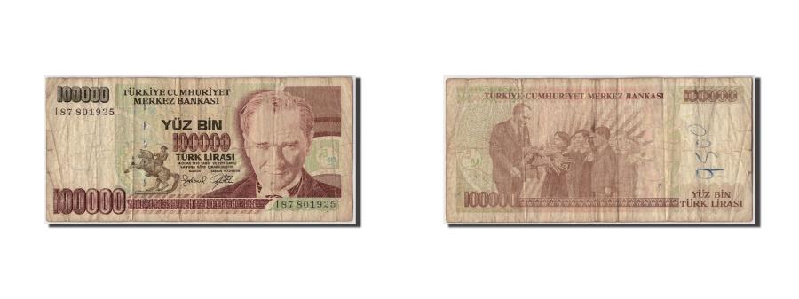 World Coins - Turkey, 100,000 Lira, L.1970 (1998), Undated, KM:205, F(12-15)