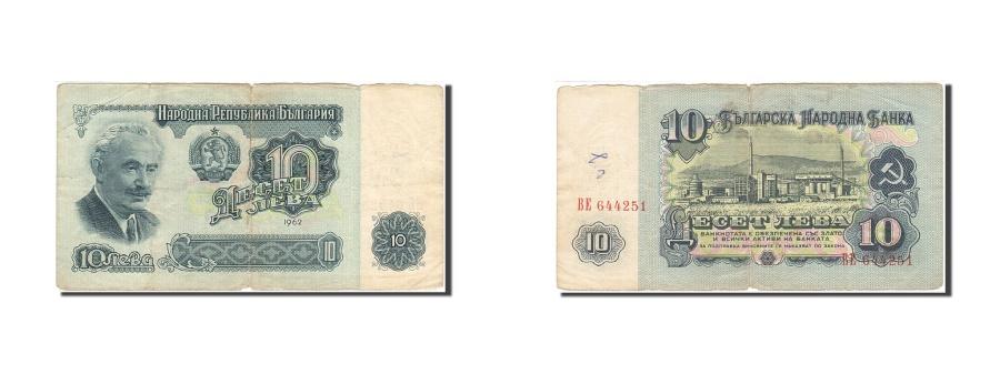 World Coins - Bulgaria, 10 Leva, 1962, 1962, KM:91a, F(12-15)