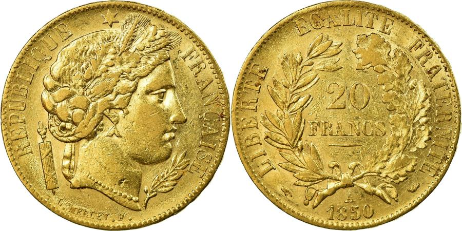 World Coins - Coin, France, Cérès, 20 Francs, 1850, Paris, , Gold, KM:762