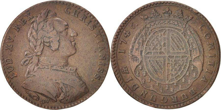 World Coins - France, Token, Etats de Bourgogne, Louis XV, 1746, , Copper