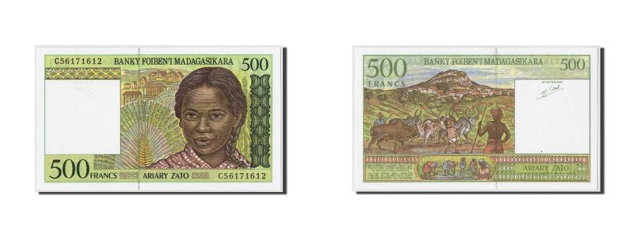 World Coins - Madagascar, 500 Francs = 100 Ariary, Undated (1994), KM:75b, UNC(65-70)