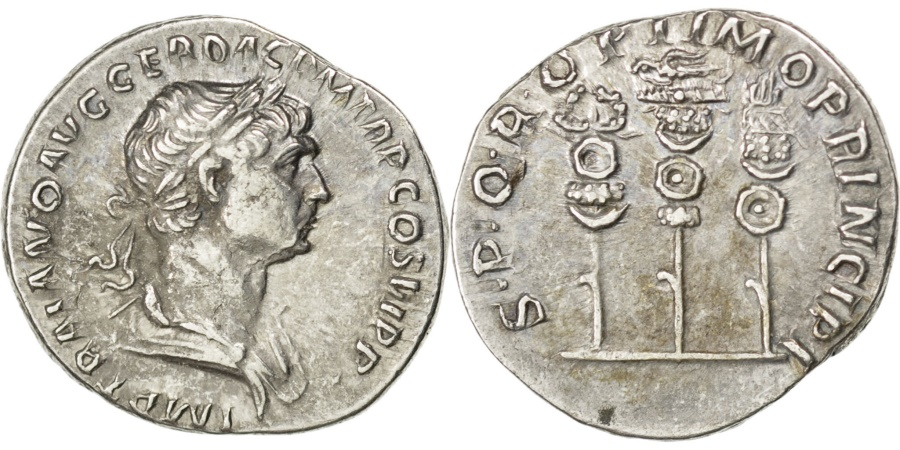 Ancient Coins - Trajan, Denarius, Roma, , Silver, RIC #294, 3.26
