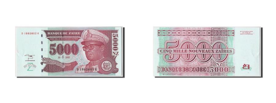 World Coins - Zaire, 5000 Nouveaux Zaïres, 1995, KM:68a, 1995-01-30, UNC(63)