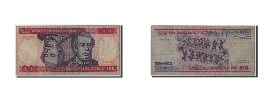 World Coins - Brazil, 100 Cruzeiros, Undated (1981-84), KM:198b, VG(8-10)