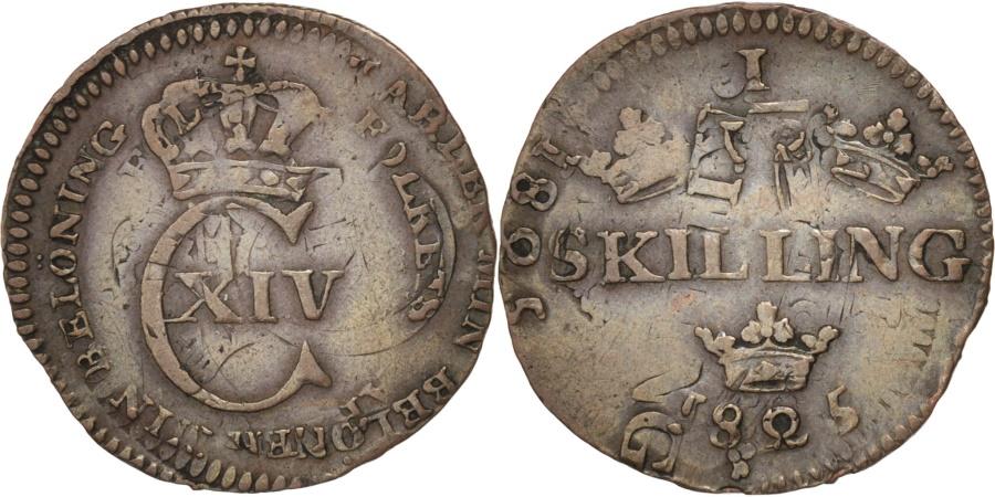 World Coins - Sweden, Carl XIV, 1/12 Skilling, 1825, Double struck, KM:616