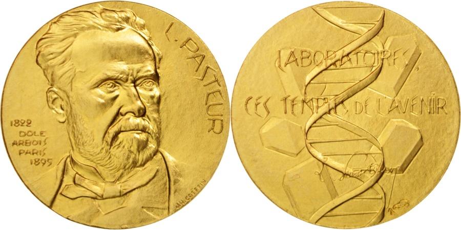 World Coins - France, Medal, 150e Anniversaire de la naissance de Louis Pasteur, Sciences