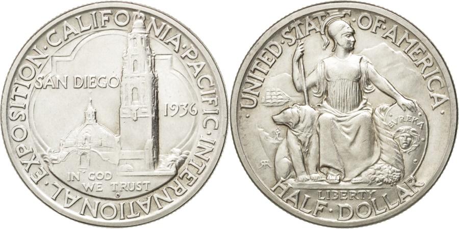 World Coins - United States, 1/2 Dollar, 1936, Denver, KM #171, , Silver, 30.6, 12.45
