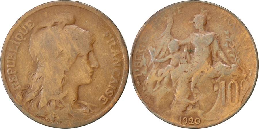 World Coins - FRANCE, Dupuis, 10 Centimes, 1920, Paris, KM #843, , Bronze, 30,...