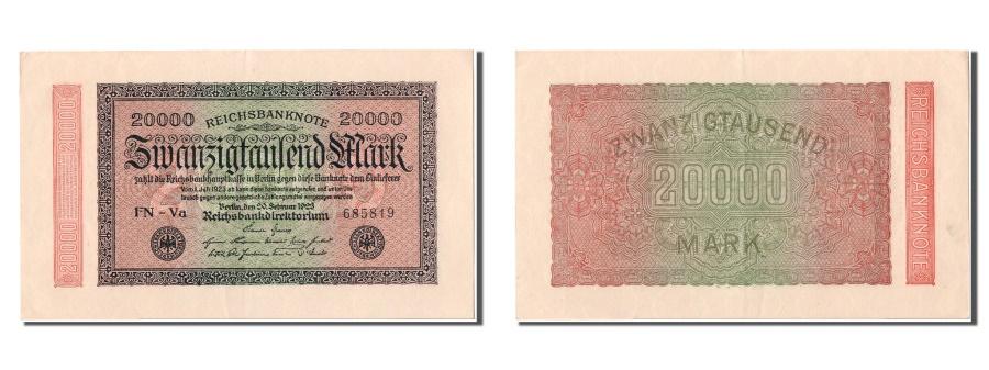 World Coins - Germany, 20,000 Mark, 1923, KM #85f, 1923-02-20, UNC(63), FN-Va 685819