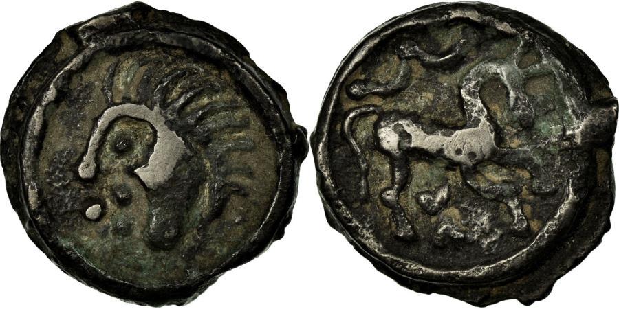 Ancient Coins - Coin, Suessiones, Potin au cheval à droite, , Latour:7924