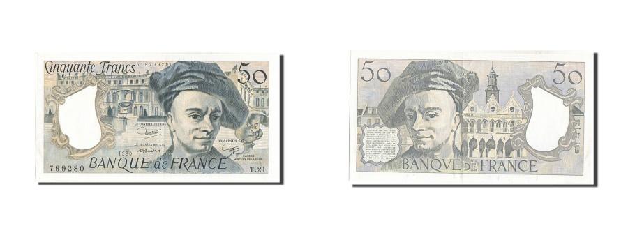 World Coins - France, 50 Francs, 50 F 1976-1992 ''Quentin de La Tour'', 1980, KM #152b,...