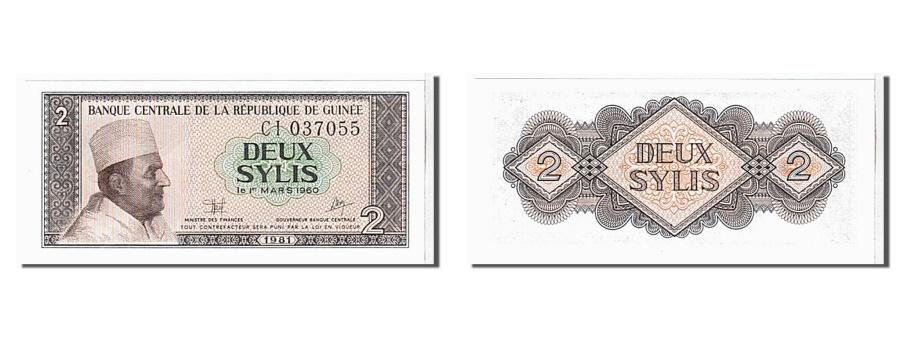 World Coins - Guinea, 2 Sylis, 1981, KM #21a, UNC(65-70), CI037055