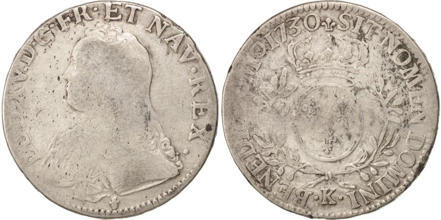 World Coins - FRANCE, Écu aux branches d'olivier, ECU, 1730, Bordeaux, KM #486.11, , .