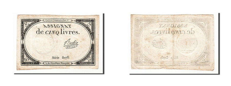 World Coins - France, 5 Livres, 1793, KM #A76, 1793-10-31, EF(40-45), Lafaurie #171, France,..
