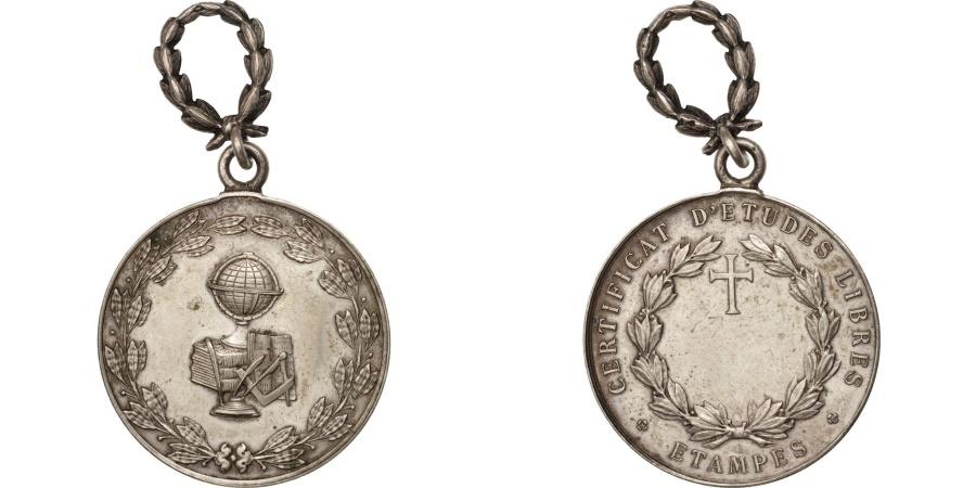 World Coins - France, Certificat d'Études Libres, Arts & Culture, Medal