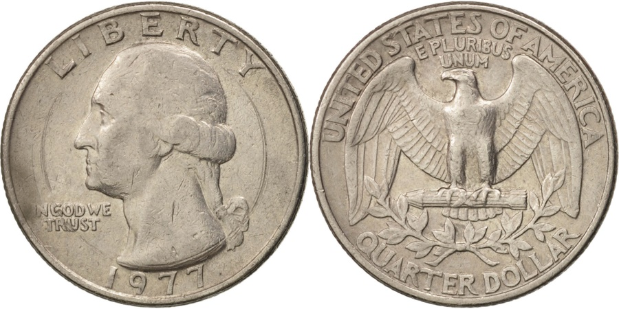 US Coins - United States, Washington Quarter, 1977, Philadelphia, , KM:A164a