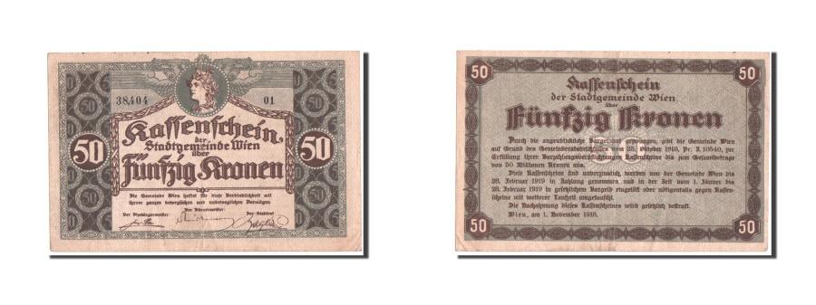 World Coins - Austria, Vienna, 50 Kronen, 1918, Notgeld, Pick UNL