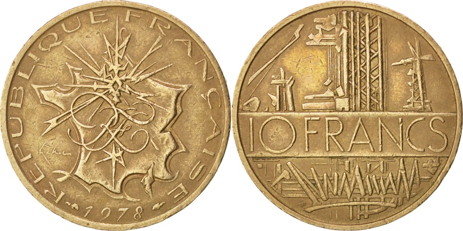 World Coins - FRANCE, Mathieu, 10 Francs, 1978, KM #940, , Nickel-Brass, 26, Gadoury.