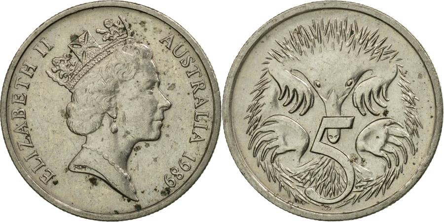 World Coins - Coin, Australia, Elizabeth II, 5 Cents, 1989, , Copper-nickel, KM:80