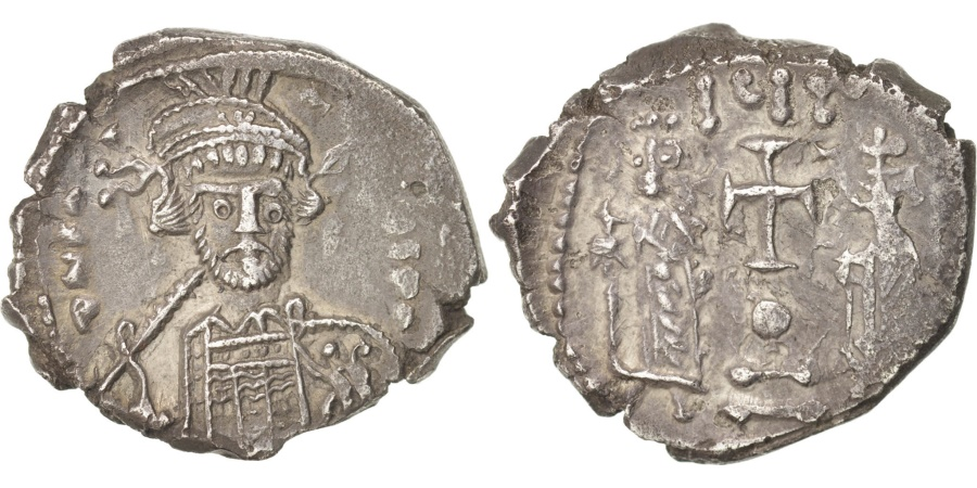 Ancient Coins - Constantine IV 668-685, Hexagram, 668-685, Constantinople, , Silver,...