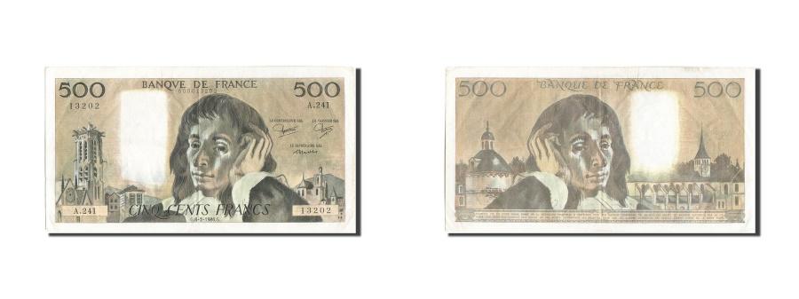 World Coins - France, 500 Francs, 500 F 1968-1993 ''Pascal'', 1986, KM:156e, 1986-02-06, EF...