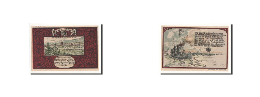 World Coins - Germany, Westerland, 1 Mark, bateau, 1921-07-01, UNC(65-70), Mehl:1419.1b