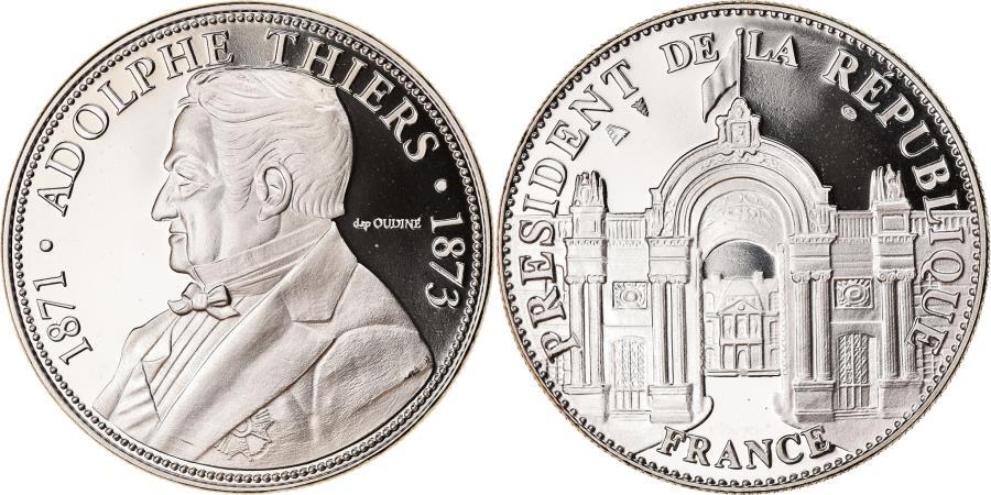 World Coins - France, Medal, Les Présidents de la République, Adolphe Thiers, Politics