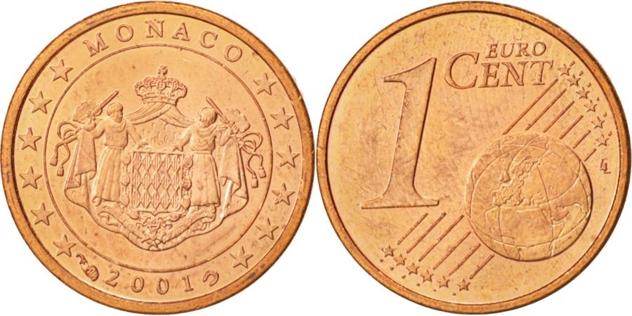 World Coins - Monaco, Euro Cent, 2001, KM:167