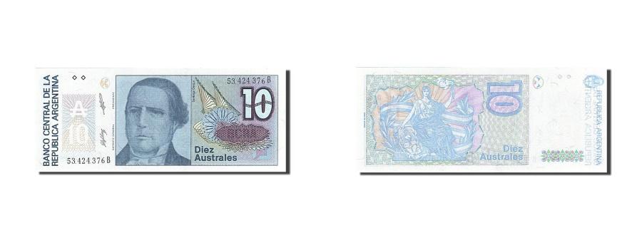World Coins - Argentina, 10 Australes, 1985-1991, KM:325b, Undated (1985-1989), UNC(65-70)