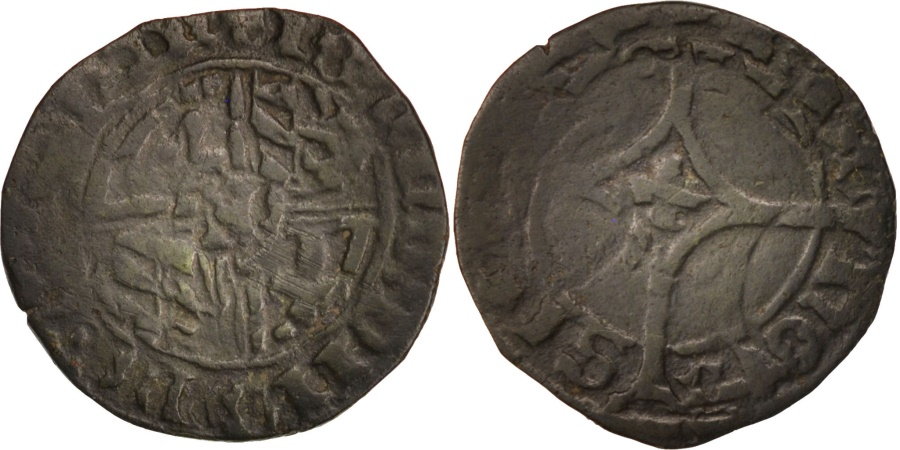 World Coins - Belgium, Charles the Bold, Double Mite, 1467-1477