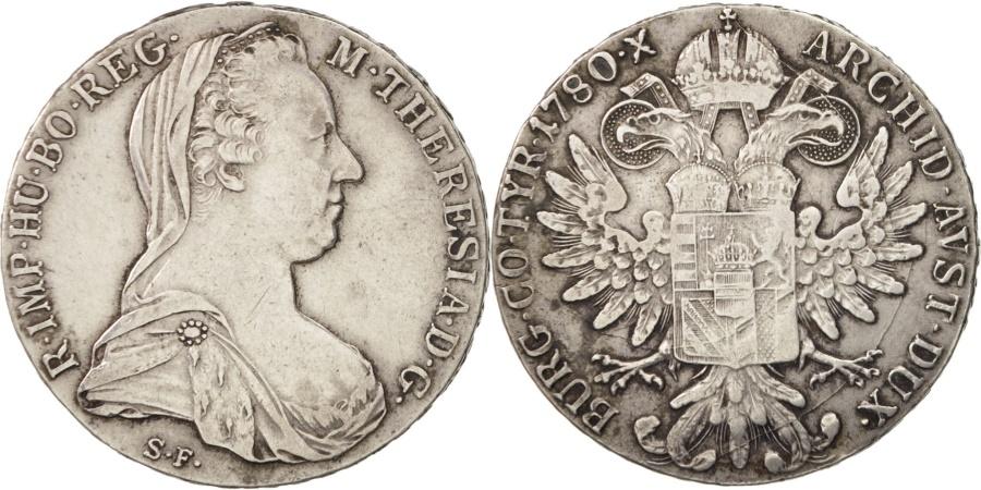 World Coins - Austria, Maria Theresa, Thaler, 1780, Vienna, , Silver, KM:1866.2
