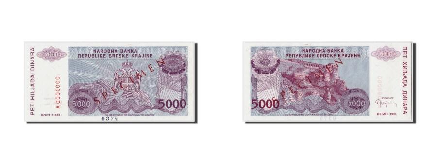 World Coins - Croatia, 5000 Dinara, 1993, Undated, KM:R20s, UNC(65-70), A0000000