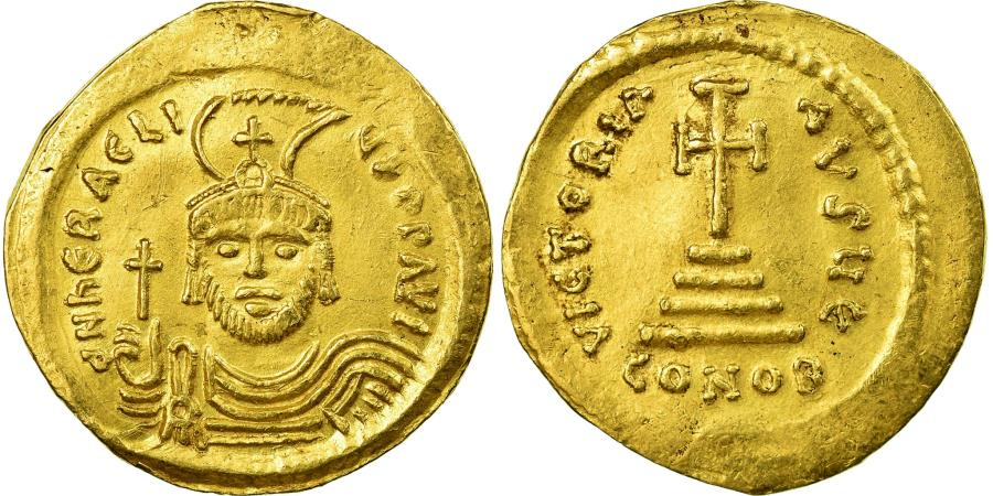 Ancient Coins - Coin, Heraclius, Solidus, 610-613, Constantinople, , Gold, Sear:731