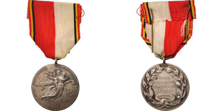World Coins - Belgium, Veteran medal, Medal, XXth Century, Very Good Quality, Silvered bronze