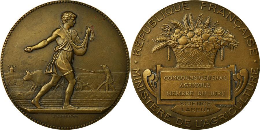 World Coins - France, Medal, Concours Général agricole, Lindauer, , Bronze
