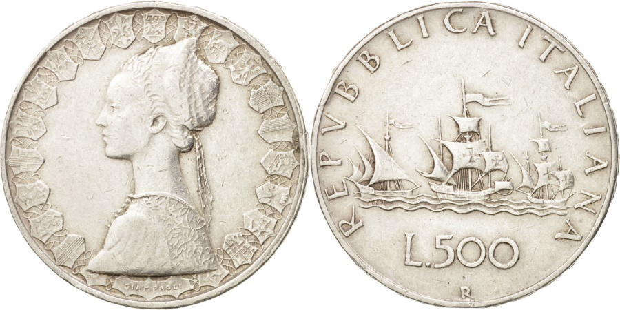 World Coins - Italy, 500 Lire, 1958, Rome, , Silver, KM:98