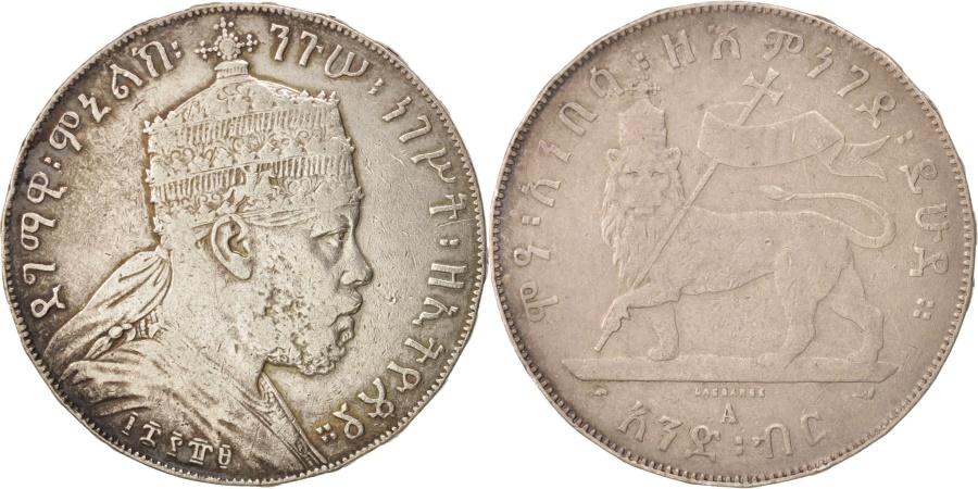 World Coins - Ethiopia, Menelik II, Birr, 1897, Paris, , Silver, KM:5
