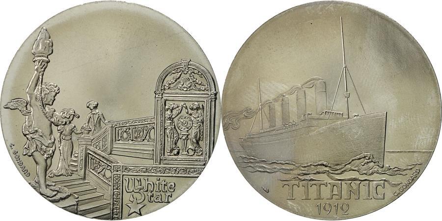 World Coins - France, Medal, Compagnie Générale Transatlantique, Titanic, C. Gondard