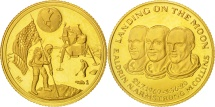 Us Coins - United States, Landing on the Moon, Medal, 1969, Gold