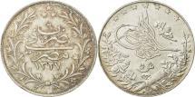 World Coins - Coin, Egypt, Muhammad V, 5 Qirsh, 1913, Misr, AU(55-58), Silver, KM:308