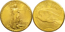 Us Coins - United States, Saint-Gaudens, $20,1927, Philadelphia, Gold, AU(50-53), KM 131