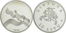 World Coins - Coin, Lithuania, 10 Litu, 2010, MS(65-70), Silver, KM:169