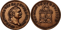 World Coins - France, Medal, Titus, History, MS(65-70), Bronze