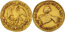 World Coins - Mexico, 1/2 Escudo, 1857, Mexico City, EF(40-45), Gold, KM:378.5