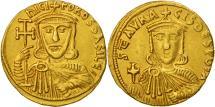 Nicephorus I and Stauracius, Solidus, Constantinople, AU(50-53), Gold, Sear:1604