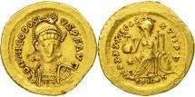 Theodosius II, Solidus, Constantinople, AU(50-53), Gold, RIC:286