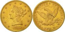 Us Coins - Coin,United States,Coronet Head,$10,Eagle,1880,Philadelphia,AU(50-53),KM 102