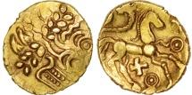 Suessiones, 1/4 Stater, Ist century BC, AU(55-58), Gold, Delestré:329